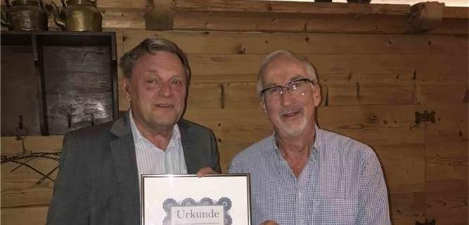 Gerb Rosen und FJR-Vorsitzender Klaus SChäfer
